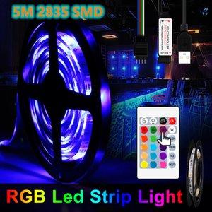 USB Light Strip Neon Lights 2835SMD 5V RGB LED Lamp Tape RGBW TV Backlight Lighting Bande Christmas Decor Lamps