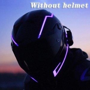 Motorcycle Helmet LED Cold Light DIY Reflective Luminous Sticker Strip Waterproof Riding Signal Cycling Accessories Bike Lights