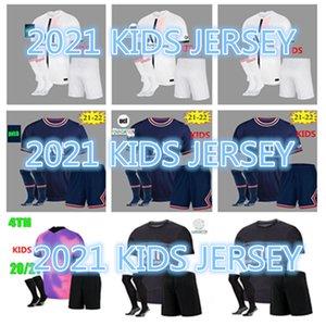 #30 MESSI MBAPPE soccer jerseys HAKIMI SERGIO RAMOS 21 22 Maillots de football shirt 2022 MARQUINHOS VERRATTI DI MARIA kids kit+SOCK uniforms enfants maillot foot