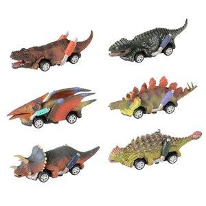 XMY 6 PCS Mini Pull Back Dinosaur Car Toy Dinosaur Roadster Party Game Kid Dinosaur Race Go-Kart Race Cars Vehicles Xmas Gift set