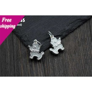 Uglyless Real S 925 Sterling Silver Pool Charms Accessories DIY Dogs Beautiful Findings Handmade Little Hanger Jewelry