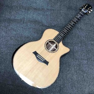 Custom 914ce Acoustic Electric Guitar OEM Grand All Real Abalone 914 ce quality tuner