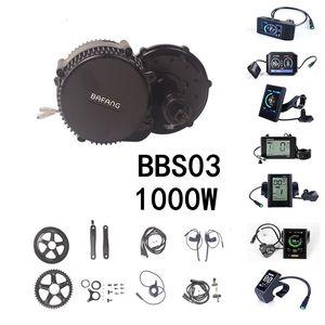 BAFANG BBS02B BBS03 48V 1000W 750W Middle Drive Motor Conversiom Mid Engine Kit Electric Bike With LCD C965 C961 C18 850C Display MTB