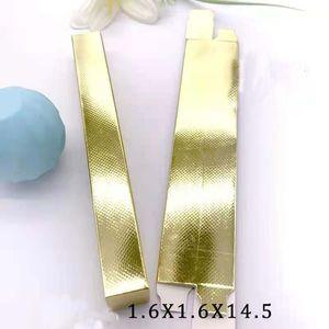 1.6*1.6*14.5cm Silver Gold Eyeliner Packaging Paper Box Lipstick Pen Package