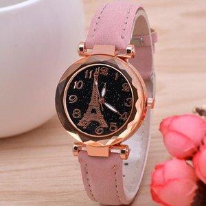 Eiffel Tower Women Watches Quartz Bracelets Luxury Designer Fashion Brand Ladies Wristwatches Leatcher Belt 2021 Automatic Clock