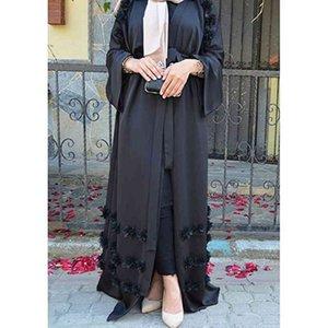 Элегантные взрослые мусульманские абарские арабские турецкие сингапуры Aardigan Appliques Jilbab Dubai одежда женское исламское платье халат большой размер