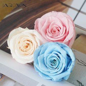 Dekoratif Çiçekler Çelenkler Jarown Ebedi Gül Çiçek Baş El Yapımı Kurutulmuş DIY Buket Dekorasyon Düğün Hediye Kutusu Uydurma Ev Dekor Flore