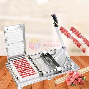 Kebab que faz a máquina manual manual espetos de carne doner kebab desgaste 10 strings carnes satay string fazendo máquina