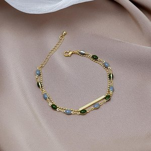 Link, Chain Fashionable Emperament Dripping Oil Retro Bracelet Female Ins Style Design Simple Girl