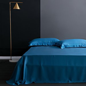 Sheets & Sets Mulberry Silk Bed Sheet Solid Color Flat Bedding Real For King Queen Size Home Textile