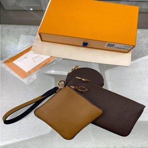 كلاسيكي باريس مصممين الساخنة مجموعة بيع حقائب محفظة نمط ثلاثة المحافظ قطعة حمل محفظة كوين حقائب النساء البند 3 mhenr
