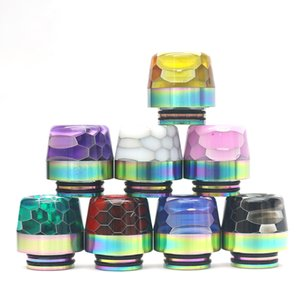 810 Drip Tips SS Epoxy Resin Fit Vape TFV8 TFV12 Prince Atomizer Tank Stainless Steel+Epoxy Resin Wide Bore 810 Mouthpieces