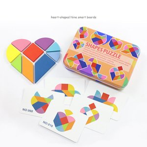 Baby Wooden Jigsaw Puzzles Toys Educational Toys Creative Geometric Shape Puzzles Tangram Toys For Kids Children Gift