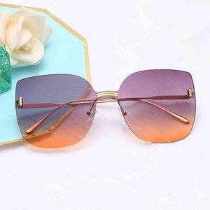 نظارات شمسية نظارات شمسية معدنية مثير ملون للجنسين العلامة التجارية الشهيرة مصمم أزياء الشمس الأضلق الرجعية الذكور أنثى للنساء الرجال