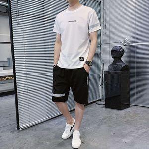 Tacksuit Summer Sportswear Hombre Casual Shorts Sweat Fast Secking T-Shirt New Manga corta Moda Final Maldita