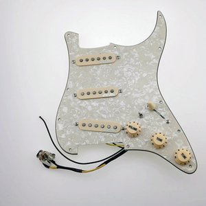 Electric Guitar Pickups WVS 60's Alnico5 SSS Single Coil Guitar Pickups David Gilmour 7-Way type fully loaded pickguard