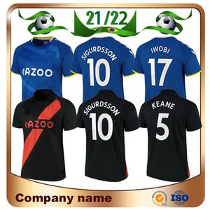 21/22 Richarlison James Soccer Jersey 2021 Kean Sigurdsson Gbamin Digne Maillots De Foot Camisa De distância Y. Mina Walcott Delph Calvert-Lewin Uniforme