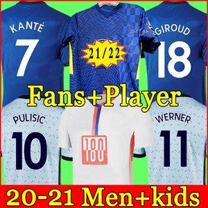 태국 네 번째 20 21 Werner Havertz Chilwell Ziyech 축구 유니폼 2021 2022 Pulisic Football Shirt Kante Mount 4 The Kids Set Kits Tops