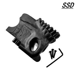 airsoft AR15 5.56 mag clip Skull MWG magazine decorative grip nylon armrest rifle