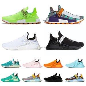2021 Pharrell Williams الاحذية الرجال النساء NMD الإنسان سباق إضافي العين مشرق الأصفر الأبيض الأسود المساواة رجل إمرأة المدربين أزياء أحذية رياضية
