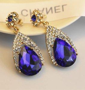 Fashion Crystals Earrings Rhinestones Long Drop Earring Women Bridal Jewelry 6 Colors Wedding Gift For Friend