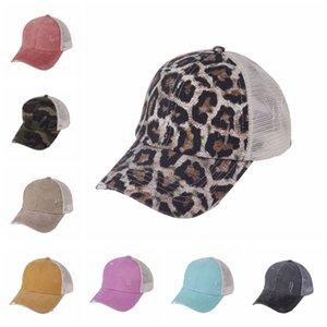 New Baseball Mesh Hat Cross Criss Ponytail Ball Caps Unisex Washable Sunshade Visor Outdoor Snapbacks Caps DDA480
