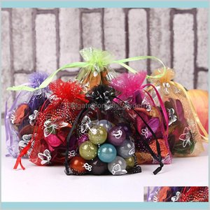 Pouches Bags Butterfly Bag 9X12Cm Organza For Bracelet Earrings Beads 2Bd1H