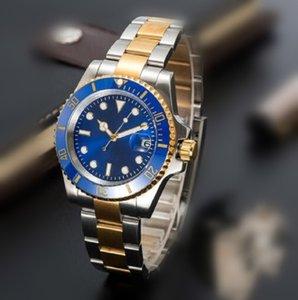 Мужская автоматическая механическая керамика часы 41 мм полная застежка из нержавеющей стали плавать на наручных часах сапфировые светящиеся часы монр де Люкс