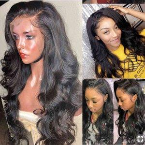 Кружева передние человеческие парики для волос для женщин 360 кружевной фронтальный парик волны тела 13x6 короткие боба кружевные фронтские парики U Часть бразильская 150 плотность