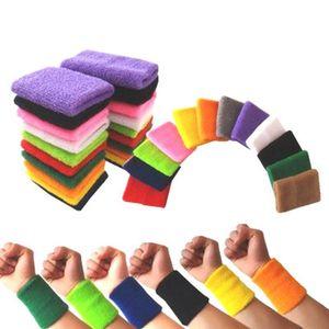 1 stücke Handgelenk Sweatband Tennis Sport Armband Volleyball Gym Brace Unterstützung Schweißband Tuch Armband Protector Schutz