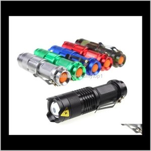 SK68 CREE XPE Q5 LED Taktik El Feneri Zoom Mini Taşınabilir Öğrenci Çocuk Torch Kamp Fener Balıkçılık Zaklamp Seyahat Zammı Işık HFGO Ekmft