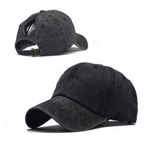 Wubxolo 2019 Mode Retro gewaschene Baseballmütze weibliche Hip-Hop-tiefe Hut-Snapback-Kappen für Frauen Casual Sommer-feste Hüte schwarz Q0324