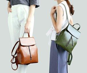 HBP 2021 Производитель Оптовые Масляные Воск Рюкзак для кожи, Кожаная Женская сумка, Новая Корейский мода Универсальный Кожаный рюкзак