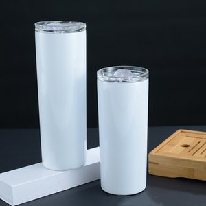 20oz skinny Tumbler Sublimation Blanks Tumbler Stainless Steel Coffee Mugs Beer Classic Cup with drink cup