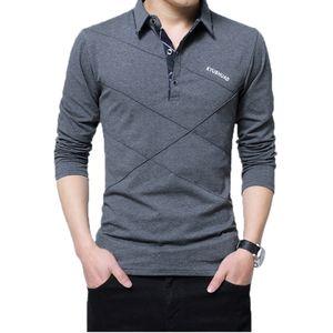 5xl polo shirt collar hombres más tamaño 3xl 4xl otoño botón marca hombre polo camisa de manga larga casual camisa masculina vestido de polo camisas 210319