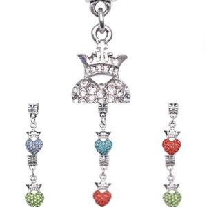 Фабрика DIY пять цветов Дополнительная корона персик Heart Point Diamond Женская Браслет SZ Аксессуары Подвеска Ювелирные Изделия M8OG