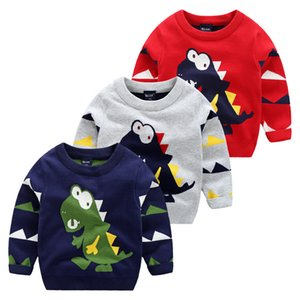 Suéter infantil Niños Baby Boy Baby Baby Dinosaur Pullover Tops de manga larga Camiseta Sudadera Age 2-7YEARS 803 V2