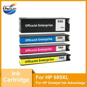 Ink Cartridges 4PCS For 980 Third Party Cartridge With Dye And Chip Compatible Officejet Enterprise Color X555dn X555xh