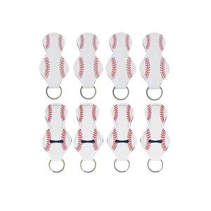 Pattern Printing Chapstick Holder Keychain Handy Lip Balm Neoprene Holder Keychain Pouch For Chapstick Lipstick HWB11041