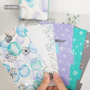 Never Dandelion Spiral Planner Index Dividers For Dokibook A6 Diary Journal Creative Korean Stationery Office & School Supplies Notepads