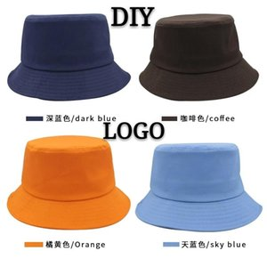 Cloches DIY Bucket Custom Hat Logo Printing Embroidery Adult Children High-quality Leisure Travel Fishing Summer Spring Cotton