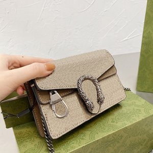 Luxury fashion brand handbag ladies shoulder bag 2021 chain designer high quality brown leather messenger belt box wholesale and retail