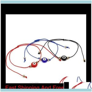 Bracelets Jewelrylucky String Evil Eye Red Cord Adjustable Charm Bracelet Diy Jewelry 3 Color Black Blue For Choose Yn1Lu Y7Ejq Drop Deliver