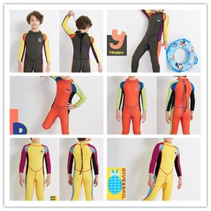 2.5mm Neoprene Wetsuit Dive Wet Suit Child Swimwear One-piece Long Sleeve Sunscreen Warm kids wetsuits boys