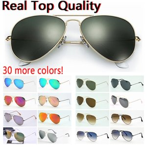 2021 New designer sunglasses top quality aviation pilot sun glasses for men women with black or brown leather case and retail accessories!
