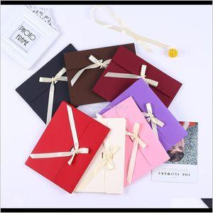 Large Black Po Envelope Packaging Case White Paper Gift Envelope For Silk Scarf With Ribbon Postcard Envelope Box Adtns Sbrhg