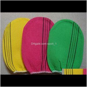 Wholesale- 3 Pcs Lot Italy Towel Korea Glove Viscose Scrub Mitt Body Scrub Glove Kessa Mitt Exfoliating Tan Glove Nco5Z I6Xzv