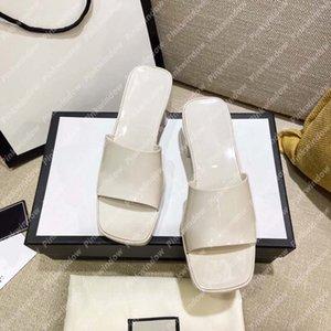 2021 Bayan Slayt Topuklu Kaydırıcılar Sandalet Luxurys Tasarımcılar Ayakkabı Terlik Platformu Terlik Sandalias Takozlar Slayt Sandales 21031701L