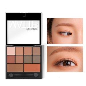 10 цвет Полная матовая тыква дымки макияж пользовательских логотипа обнаженных теней для глаз