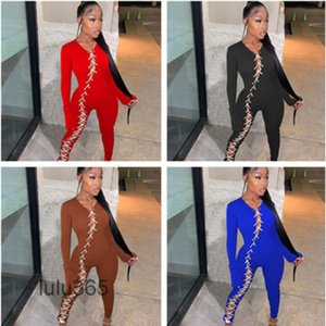 women sexy strapping jumpsuits fashion casual one piece pants Bodysuit lulu365